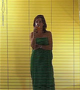 Venetian blind and her